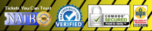 picture of logos for verified authentic tickets