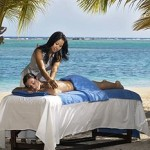 picture of a beach massage at an all inclusive resort