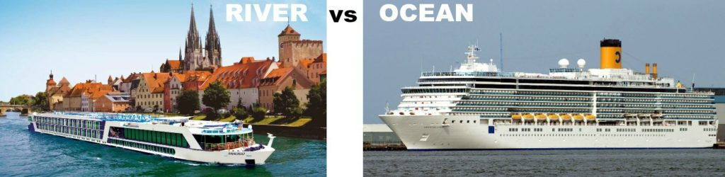 Picture comparing river and ocean boat sizes