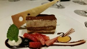 Picture of gourmet dessert on an AmaWaterways River Cruise,